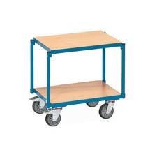 Chariot à étagères fetra®, 2tablettes en bois