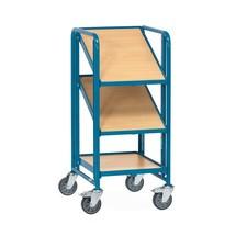Chariot à étagères pour bacs Euro fetra® avec tablettes