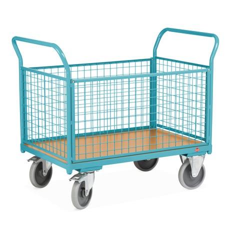 Chariot à plate-forme Ameise®, 4 côtés avec parois grillagées