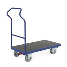 Chariot à plate-forme Ergotruck®, avec dossier de poussée