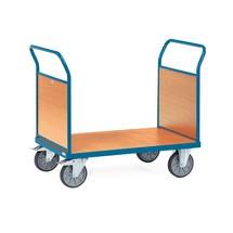 Chariot à plate-forme fetra®, avec ridelles en bois sur les 2côtés