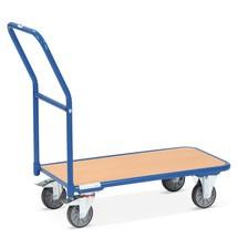 Chariot à plate-forme fetra® avec surface de chargement en bois