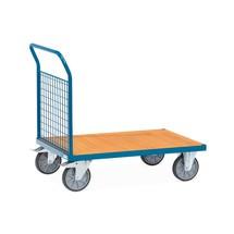 Chariot à plate-forme fetra® avecridelle avant grillagée
