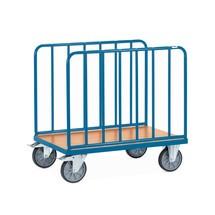 Chariot à plate-forme fetra®, bilatéral avec montants tubulaires verticaux