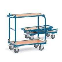 Chariot à plateau rabattable fetra® avec cadre en acier