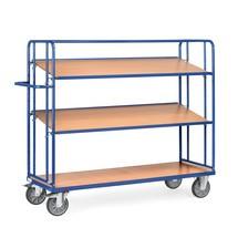 Chariot à plateaux pour bacs fetra®, capacité de charge 500 kg