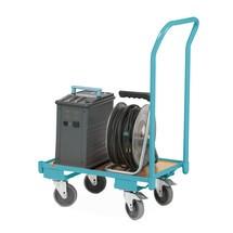 Chariot à plateforme pour bacs Europe Ameise®, avec arceau de poussée