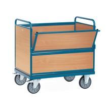 Chariot-caisse fetra® avec ridelles en bois