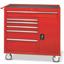 Chariot d'atelier Steinbock®. 6 tiroirs, 1 compartiment latéral