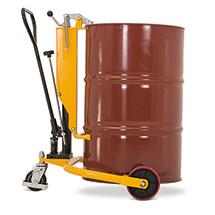 Chariot de levée de fûts avec levée par timon. Capacité de charge 250 kg