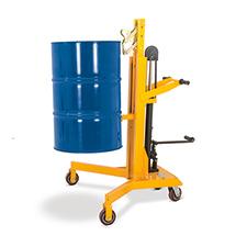 Chariot de levée de fûts avec pédale. Capacité de charge 450 kg