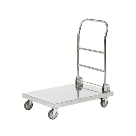 Chariot de transport, 100 % acier inoxydable 18/0