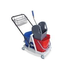 Chariot double baquet BASIC en plastique