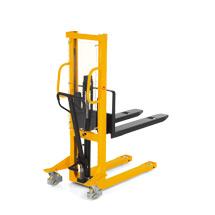 Chariot élévateur hydraulique Ameise® - mât simple, levée jusqu'à 1600 mm, capacité de charge jusqu'à 1500 kg