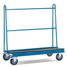 Chariot porte-panneaux unilatéral, dimensions de charge 150x40x115 cm, 500 kg