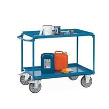 Chariot tôlé fetra® avec plateaux étanches à l'huile