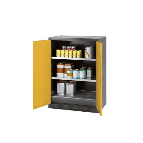 Chemikalien- und Giftschrank asecos® mit Fachböden, HxBxT 1.105 x 810 x 520 mm