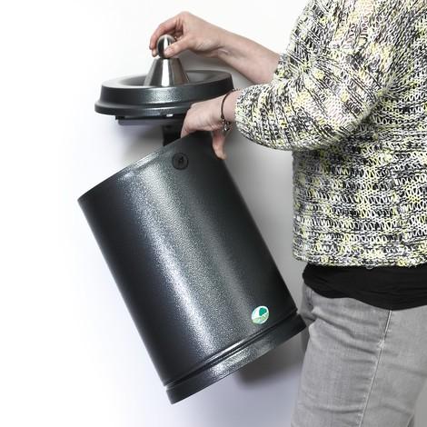 cinzeiro de parede VAR®, chapa de aço