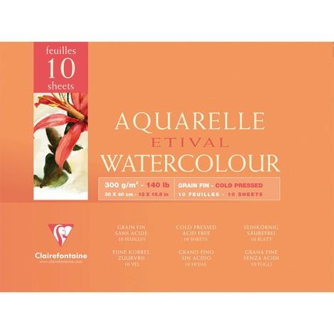 Clairefontaine Aquarellblöcke ETIVAL, fein
