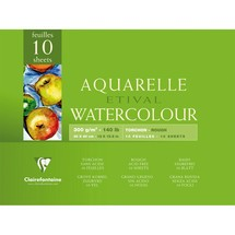 Clairefontaine Aquarellblöcke ETIVAL, rau
