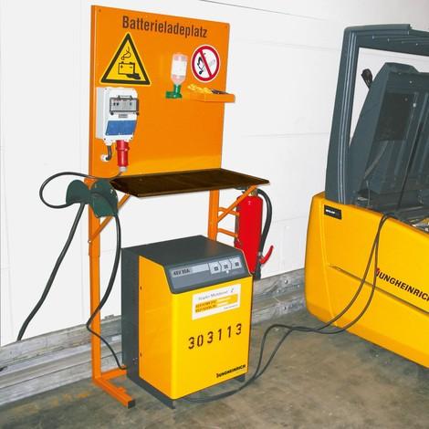 Coffret de sécurité pour station de recharge de batteries