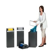 Collecteur de déchets VAR®, 60litres, autoextinguible, en acier galvanisé et revêtu par poudrage, couvercle rond