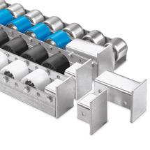 Colli-Rollschienen US-NR 40 mit Stahlröllchen kunststoffummantelt, 66 - 200mm
