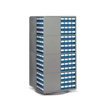 Colonne pivotante pour systèmes de rangement à tiroirs