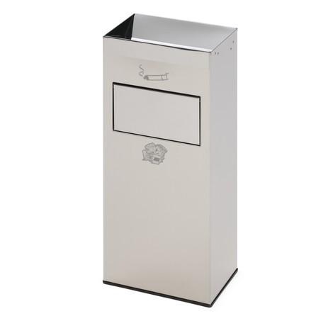 Combinação de cinzeiro e caixote de lixo VAR®, aço inoxidável, 21 litros