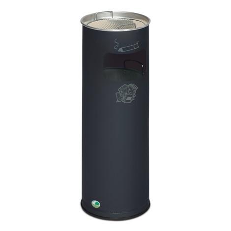 Combinazione posacenere-cestino dei rifiuti VAR®, modello a colonna, 16,7 litri