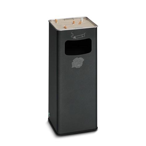 Combinazione posacenere-cestino dei rifiuti VAR®, modello a colonna, 31,7 litri