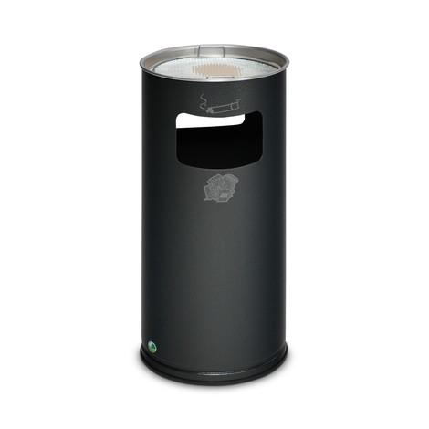 Combinazione posacenere-cestino dei rifiuti VAR®, modello a colonna, 37,4 litri