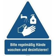 Comboplaat, was en desinfecteer uw handen regelmatig!