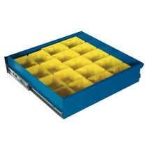 Compartimentage de tiroir en plastique, pour armoire à matériel