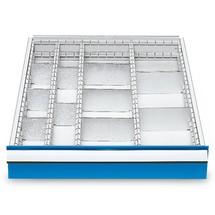 Compartimentage de tiroir métallique pour établi en ligne