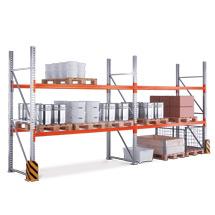 Compleet pakket palletstelling Multipal, vaklast tot 2400 kg - 2 velden