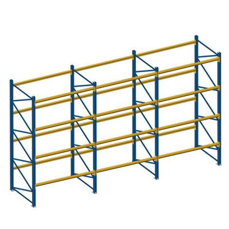 Complete palletstelling type MPB, met extra aanbouwveld
