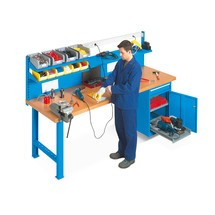 Complete set modulair werkbanksysteem, 20-delig, werkbank + kast + achterwand + accessoires