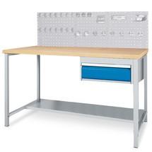 Complete set werkbanktafel met lade + geperforeerde achterwand + hakenassortiment