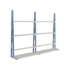 Complete vertical rack set, one-sided (separator arms not included)