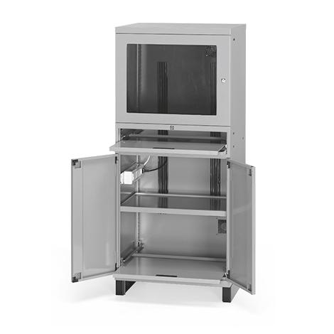 Computerschrank, 100mm Sockel, 1 Ventilator, 1660x717x635mm