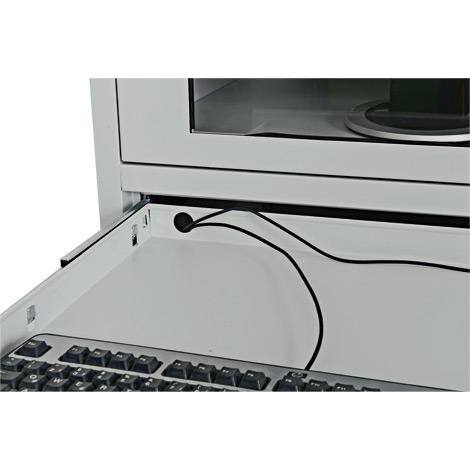 Computerschrank BASIC. Mobil durch 4 Schwerlastrollen