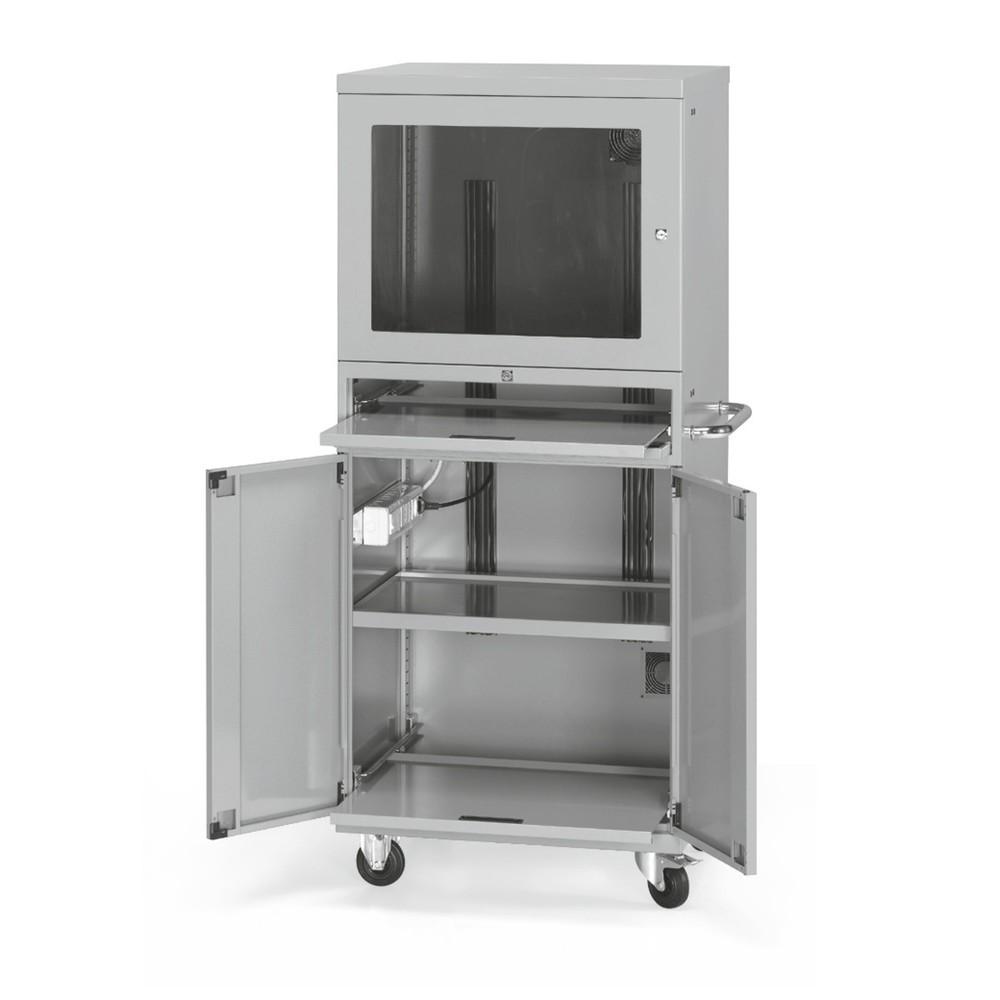 Computerschrank mit Rollen und Ventilator, HxBxT 1.690 x 717 x 635 mm