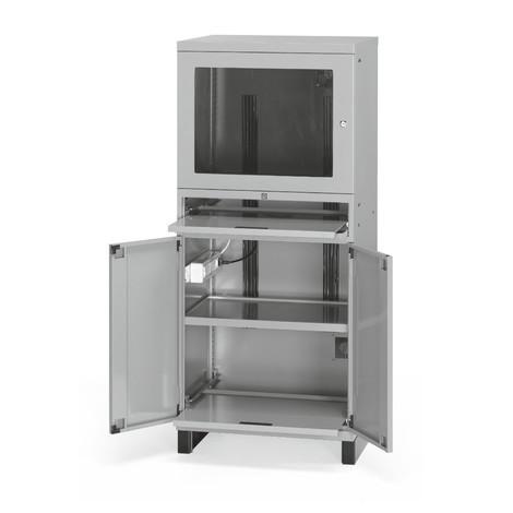 computerschrank mit sockel und ventilator hxbxt x 717 x 635 mm jungheinrich profishop. Black Bedroom Furniture Sets. Home Design Ideas