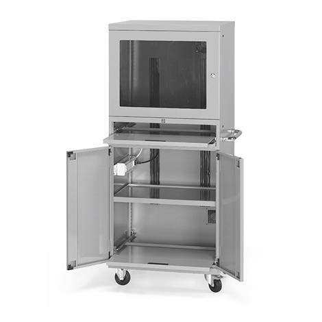 Computerschrank, Rollen, 1 Ventilator, 1690x717x635mm