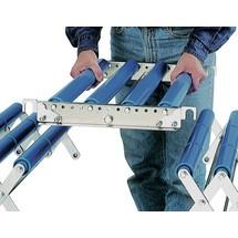 Conector para transportador de rodillos de tijera