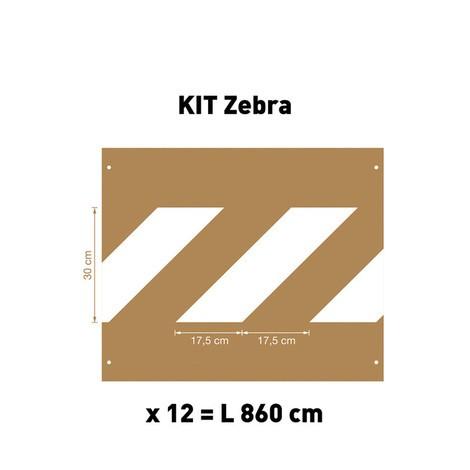 Conjunto de Estêncil Zebra