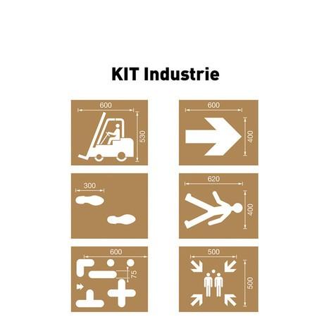 Conjunto de Plantillas Industrial
