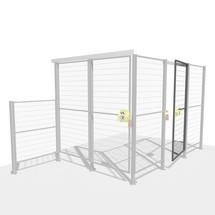 Conjunto de porta TROAX® SMART FIX com BLOQUEIO DE SEGURANÇA