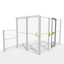 Conjunto de porta TROAX® SMART FIX com fechadura de cilindro